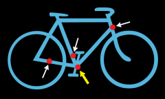 Location of serial number on most bikes.